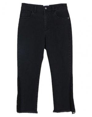 Джинсовые брюки-капри ANNARITA N TWENTY 4H. Цвет: черный