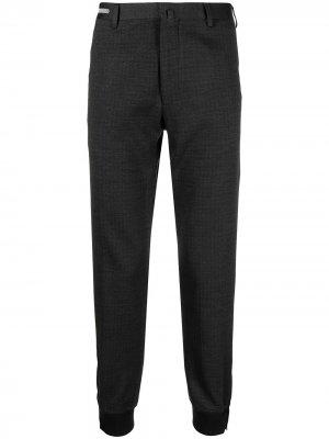 Укороченные брюки тонкой вязки Corneliani. Цвет: серый