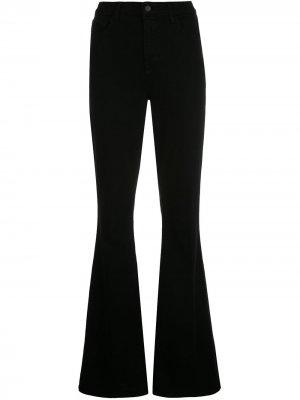 LAgence расклешенные джинсы с завышенной талией L'Agence. Цвет: черный