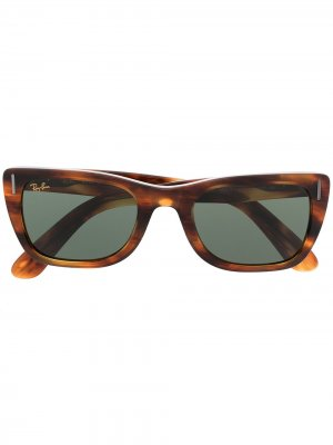 Солнцезащитные очки Caribbean Ray-Ban. Цвет: коричневый