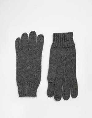 Перчатки Player Polo Ralph Lauren. Цвет: серый