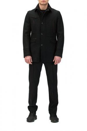 Пальто Basic. Цвет: черный
