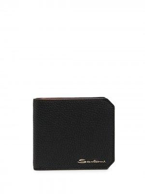 Складной кошелек Santoni. Цвет: черный