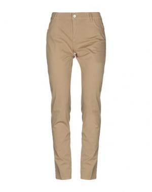 Повседневные брюки E-GÓ. Цвет: верблюжий