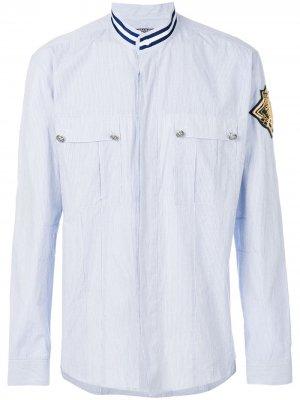 Рубашка с заплаткой Balmain. Цвет: синий