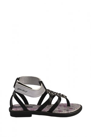 Пантолеты Grendha. Цвет: black, silver