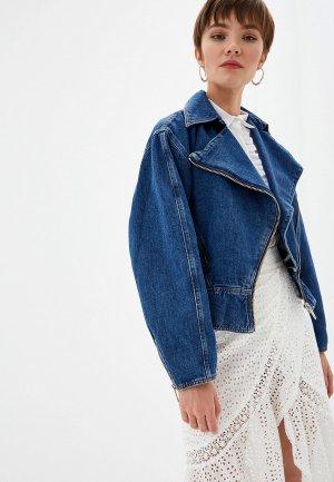 Куртка джинсовая The Kooples. Цвет: синий