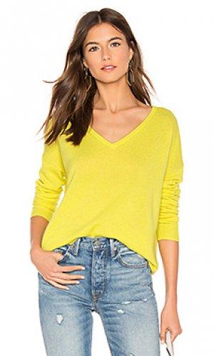 Свитер essential White + Warren. Цвет: лимонный