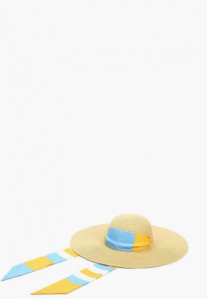Шляпа Tommy Hilfiger с лентой. Цвет: бежевый