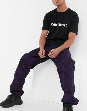 Брюки карго классического кроя с камуфляжным принтом -Фиолетовый Carhartt WIP