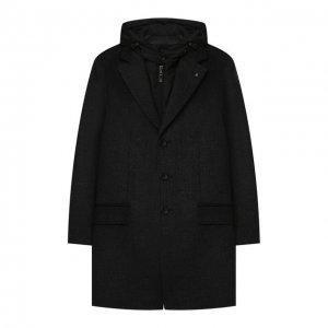Шерстяное пальто с капюшоном Alessandro Borelli Milano. Цвет: серый