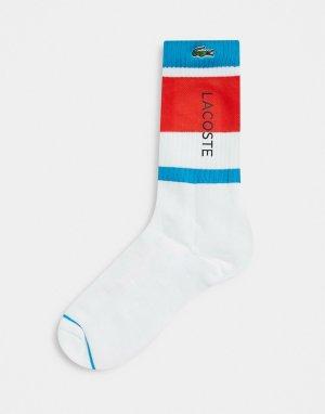 Спортивные носки в стиле колор-блок -Многоцветный Lacoste