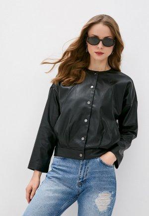 Куртка кожаная Vittoria Vicci. Цвет: черный