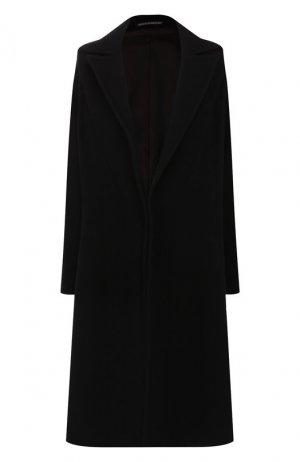 Шерстяное пальто Yohji Yamamoto. Цвет: чёрный
