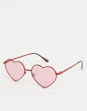 Солнцезащитные очки в красной оправе -Красный Quay Australia