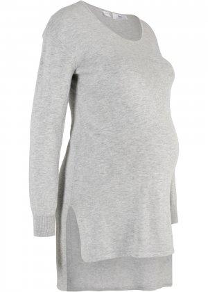 Пуловер для беременных bonprix. Цвет: серый