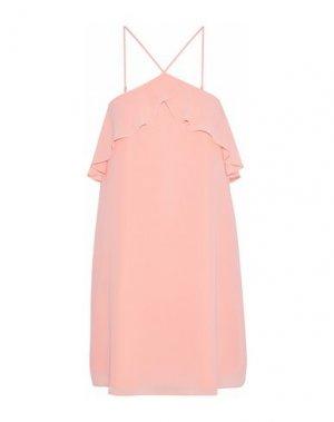 Короткое платье HAUTE HIPPIE. Цвет: абрикосовый