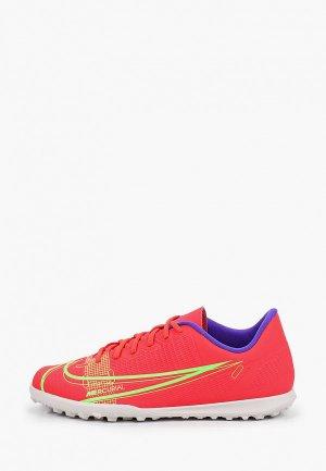 Шиповки Nike JR VAPOR 14 CLUB TF. Цвет: красный