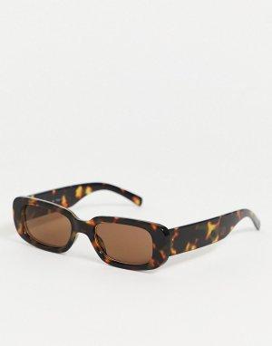 Солнцезащитные очки в черепаховой оправе -Коричневый AJ Morgan