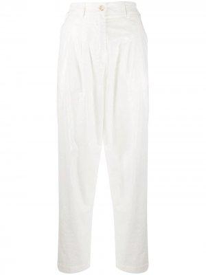 Зауженные брюки с завышенной талией 8pm. Цвет: нейтральные цвета