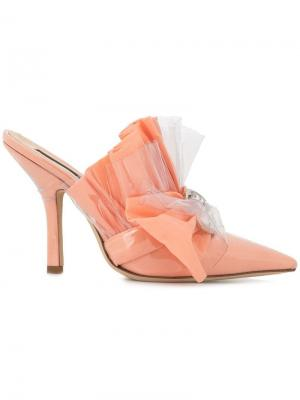 Мюли на каблуке с декором Midnight 00. Цвет: розовый