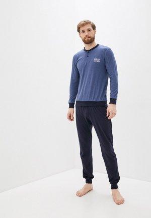 Пижама Enrico Coveri. Цвет: синий