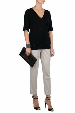Черный пуловер с короткими рукавами Fabiana Filippi