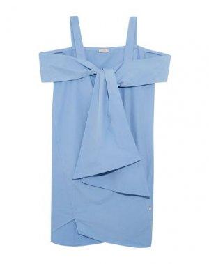 Короткое платье CLU. Цвет: небесно-голубой