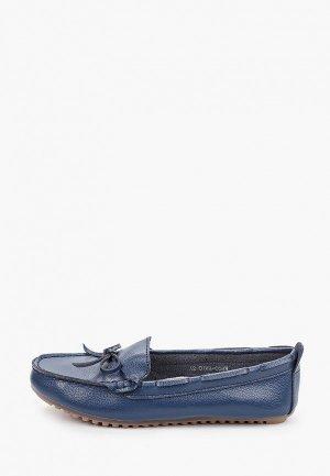 Мокасины Zenden Comfort. Цвет: синий