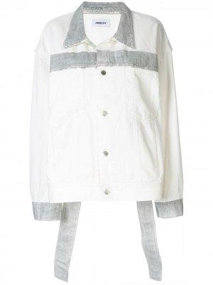 Джинсовая куртка Reflector AMBUSH. Цвет: белый