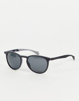 Черные солнцезащитные очки в круглой оправе Hugo Boss 1115/S-Черный цвет