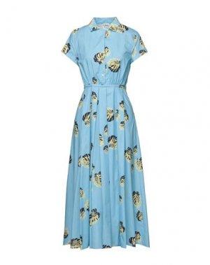 Платье миди ATTIC AND BARN. Цвет: небесно-голубой