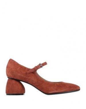 Туфли CARVEN. Цвет: ржаво-коричневый