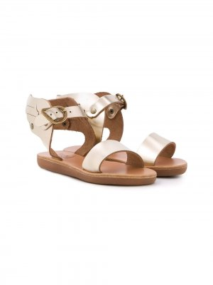 Сандалии Little Ikaria с аппликацией Ancient Greek Sandals. Цвет: золотистый