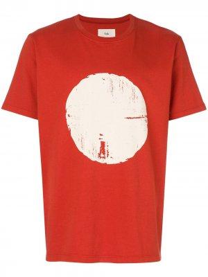 Футболка с принтом круга Folk. Цвет: красный