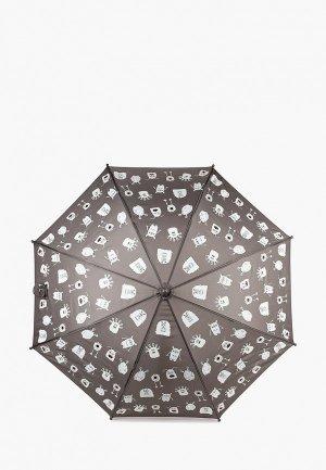 Зонт-трость Goroshek. Цвет: серый
