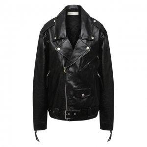 Кожаная куртка Dries Van Noten. Цвет: чёрный