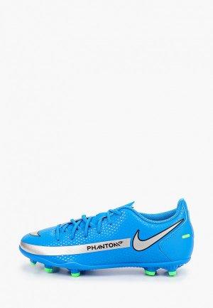 Бутсы Nike JR PHANTOM GT CLUB FG/MG. Цвет: синий