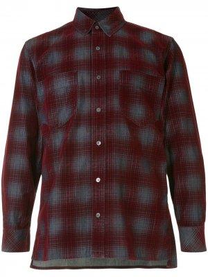 Клетчатая рубашка на пуговицах Cerruti 1881. Цвет: красный