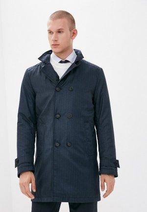 Куртка утепленная Bazioni. Цвет: синий