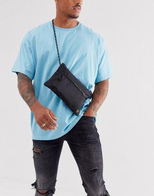 Черная нейлоновая сумка на плечо -Черный Farah