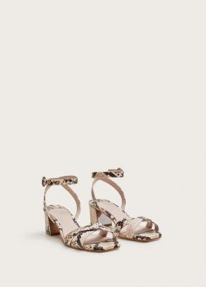 Босоножки на каблуке с ремешками - Guspini Mango. Цвет: экрю