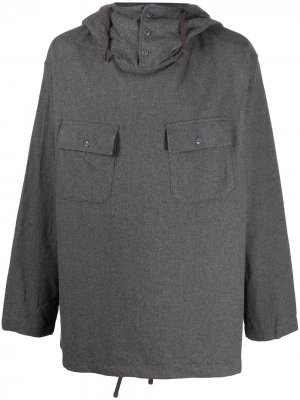 Толстовка с капюшоном Engineered Garments. Цвет: серый