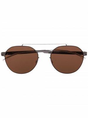 Солнцезащитные очки-авиаторы ML04 Mykita. Цвет: серый
