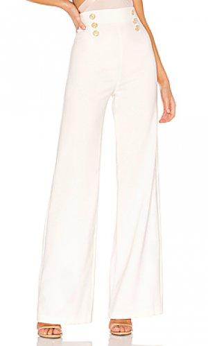 Широкие брюки milano Nookie. Цвет: белый