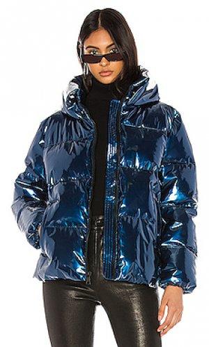 Дутая куртка KENDALL + KYLIE. Цвет: синий