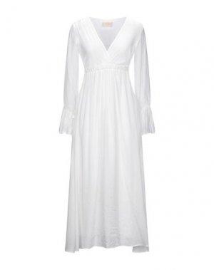 Платье миди KAOS JEANS. Цвет: белый