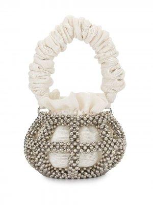 Большая сумка-ведро Mei 0711. Цвет: серебристый