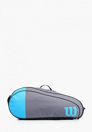Сумка для теннисных ракеток Wilson TEAM 3 PK. Цвет: серый