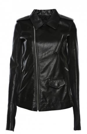 Куртка кожаная Rick Owens. Цвет: черный